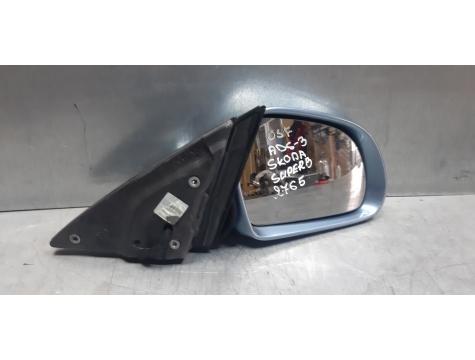 Зеркало правое 13 контактов Skoda Superb 2 Шкода Суперб 2008-2013 SK01