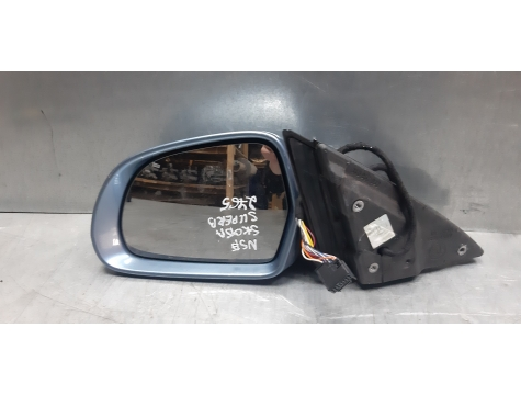 Зеркало левое 13 контактов Skoda Superb 2 Шкода Суперб 2008-2013 SK01